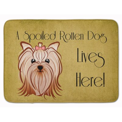 Yorkshire Terrier Spoiled Dog Memory Foam Bath Rug