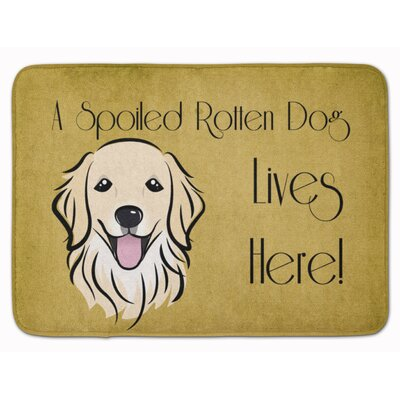 Retriever Spoiled Dog Lives Here Memory Foam Bath Rug