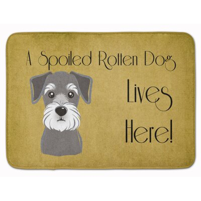 Schnauzer Spoiled Dog Lives Here Memory Foam Bath Rug