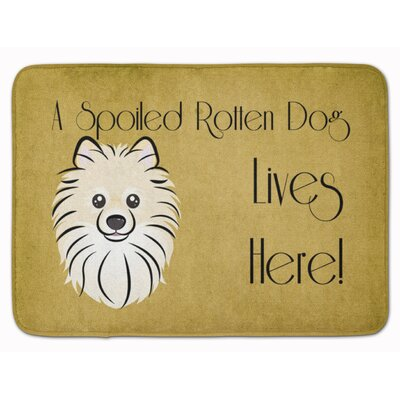 Pomeranian Spoiled Dog Lives Here Memory Foam Bath Rug