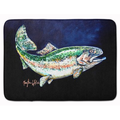 Rainbow Trout Memory Foam Bath Rug