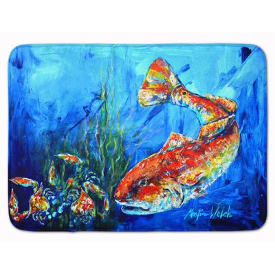 Fish Scattered Memory Foam Bath Rug