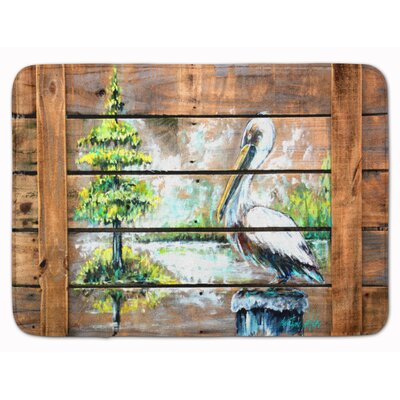 Summer by the Lake Pelican Memory Foam Bath Rug