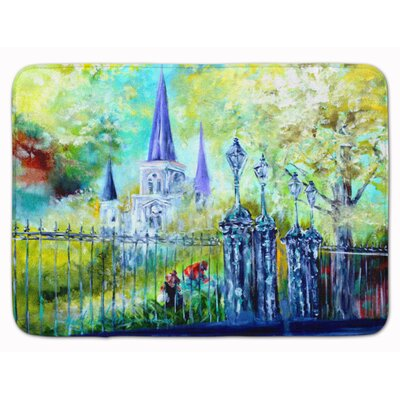 St Louis Cathedral Across the Square Memory Foam Bath Rug
