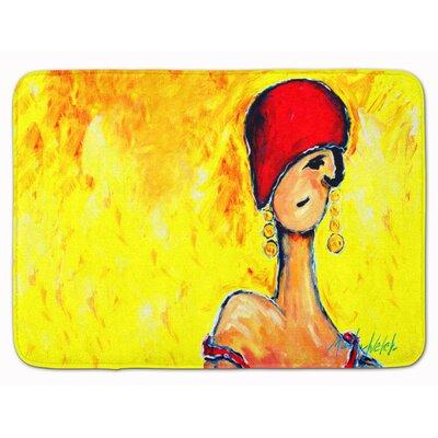 Azalines Earrings Lady Memory Foam Bath Rug