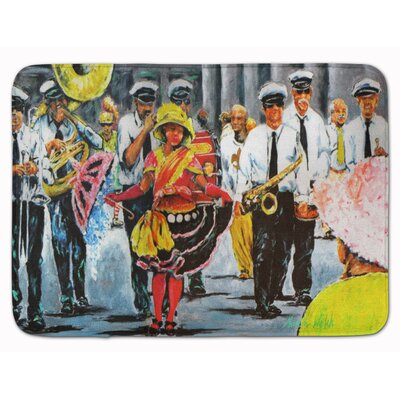 Ridgeville Mardi Gras Dancing in the Streets Memory Foam Bath Rug
