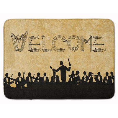 Welcome Symphony Memory Foam Bath Rug