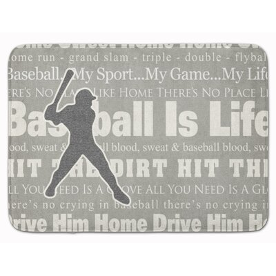 Baseball is Life Memory Foam Bath Rug