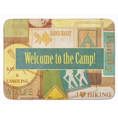 Welcome to the Camp Memory Foam Bath Rug