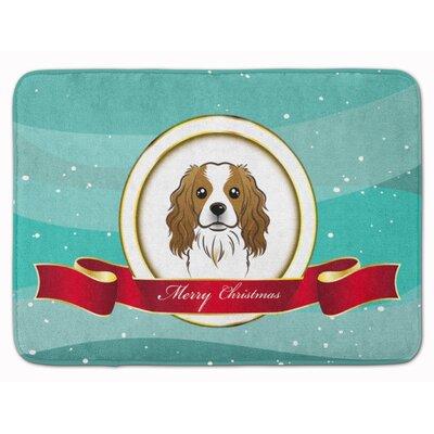 Cavalier Spaniel Merry Christmas Memory Foam Bath Rug