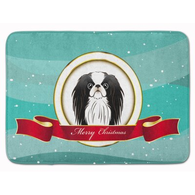 Japanese Chin Merry Christmas Memory Foam Bath Rug
