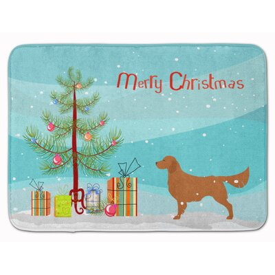 Retriever Merry Christmas Tree Memory Foam Bath Rug