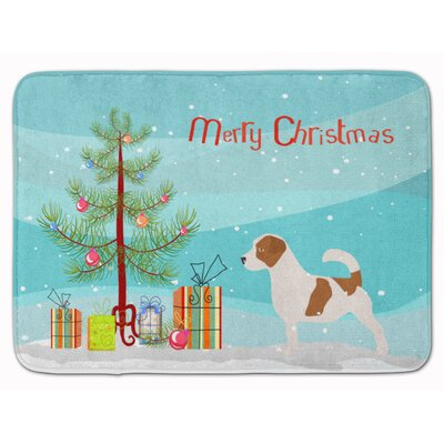 Jack Russell Terrier Christmas Tree Memory Foam Bath Rug