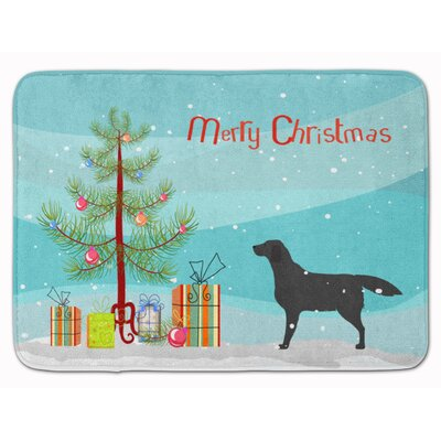 Kildare Labrador Retriever Christmas Tree Memory Foam Bath Rug