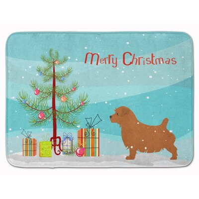 Norfolk Terrier Merry Christmas Tree Memory Foam Bath Rug