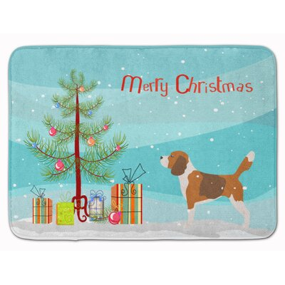 Beagle Merry Christmas Tree Memory Foam Bath Rug