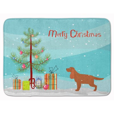 English Cocker Spaniel Christmas Tree Memory Foam Bath Rug