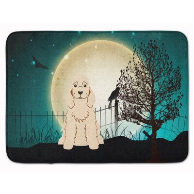 Halloween Scary Cocker Spaniel Buff Memory Foam Bath Rug
