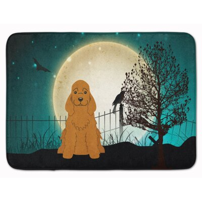 Halloween Scary Cocker Spaniel Memory Foam Bath Rug