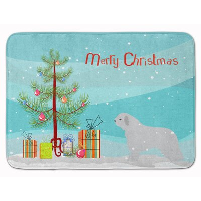 Spanish Water Dog Merry Christmas Tree Memory Foam Bath Rug