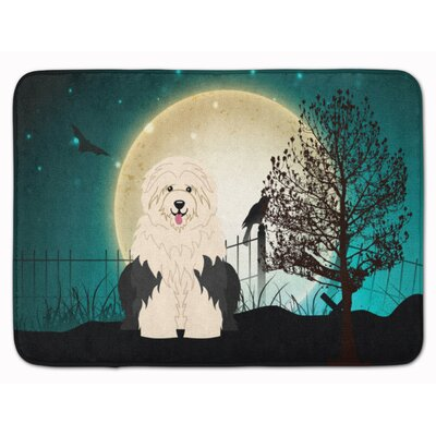 Testa Scary Old English Sheepdog Memory Foam Bath Rug