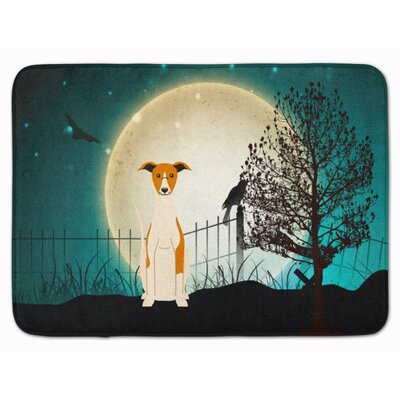 Halloween Scary Whippet Memory Foam Bath Rug