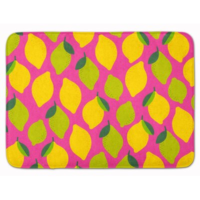 Lemons and Limes Memory Foam Bath Rug Color: Pink