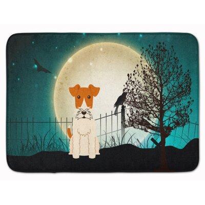 Halloween Scary Wire Fox Terrier Memory Foam Bath Rug