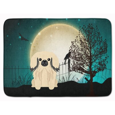 Halloween Scary Pekingese Memory Foam Bath Rug