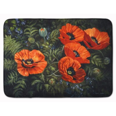 Poppies by Daphne Baxter Memory Foam Bath Rug
