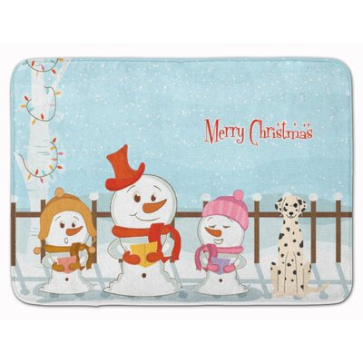 Merry Christmas Carolers Dalmatian Memory Foam Bath Rug