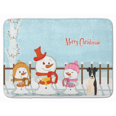 Christmas Carolers Smooth Fox Terrier Memory Foam Bath Rug
