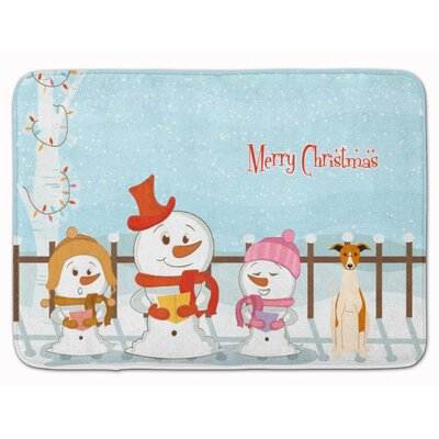 Merry Christmas Carolers Whippet Memory Foam Bath Rug