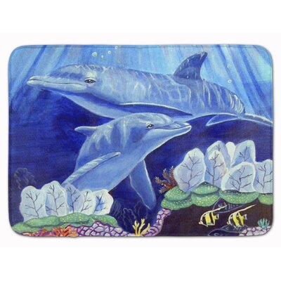 Dolphin Under the Sea Memory Foam Bath Rug
