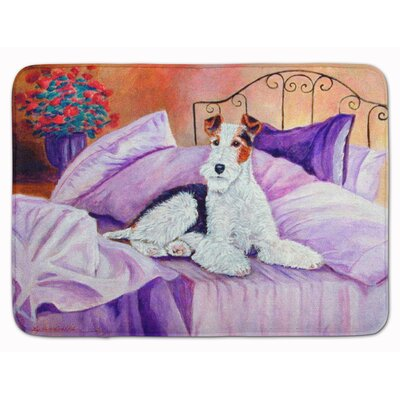 Fox Terrier Waiting on Mom Memory Foam Bath Rug