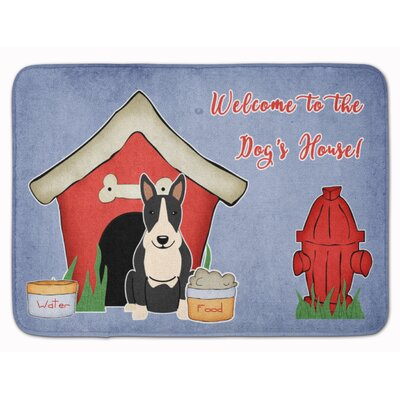 Dog House Bull Terrier Memory Foam Bath Rug Color: Black/White
