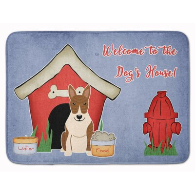 Dog House Bull Terrier Memory Foam Bath Rug Color: Brindle