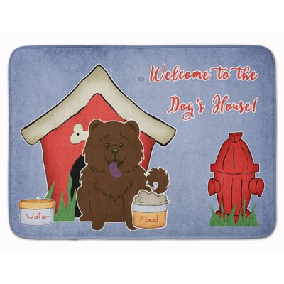 Dog House Chow Chow Memory Foam Bath Rug Color: Chocolate