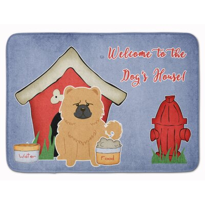 Dog House Chow Chow Memory Foam Bath Rug Color: Cream