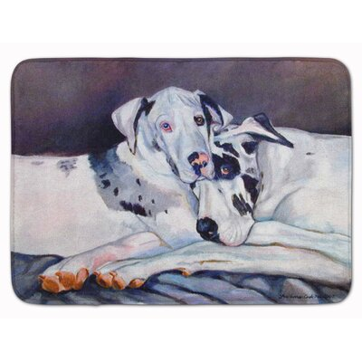 Harlequin Natural Great Danes Memory Foam Bath Rug