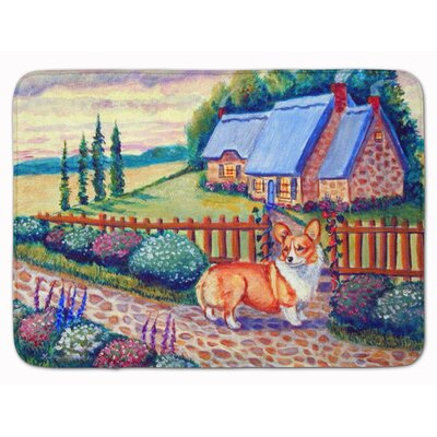 Pembroke Corgi at the Cottage Memory Foam Bath Rug