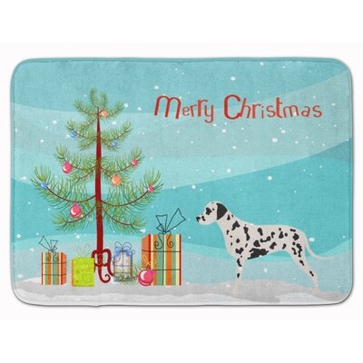 Dalmatian Merry Christmas Tree Memory Foam Bath Rug