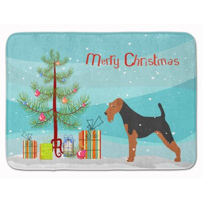Welsh Terrier Merry Christmas Tree Memory Foam Bath Rug