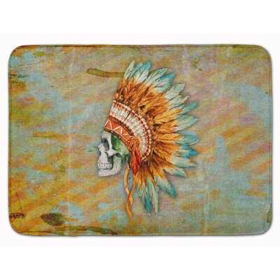 Day of the Dead Indian Skull Memory Foam Bath Rug