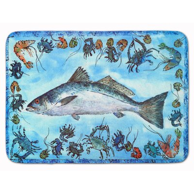 Egremont Fish Speckled Trout Memory Foam Bath Rug