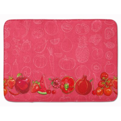 Fruits and Vegetables in Memory Foam Bath Rug