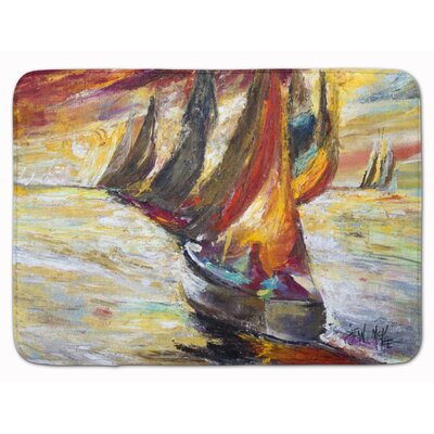 Sailboat Sails Memory Foam Bath Rug