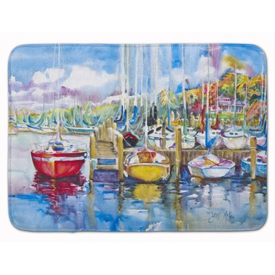 Paradise Yacht Club Sailboat Memory Foam Bath Rug