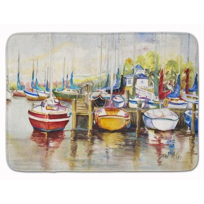 Paradise Yacht Club II Sailboat Memory Foam Bath Rug