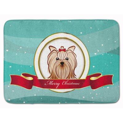 Yorkshire Terrier Christmas Memory Foam Bath Rug